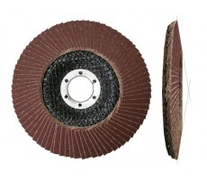 Круг лепестковый 125х22мм А80 конич. КЛТ2 (Луга) (LUGAABRASIV)