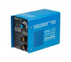 Инвертор сварочный SOLARIS MMA-200 (230В; 20-200 А; 70В; электроды диам. 1.6-4.0 мм; вес 3.4 кг)